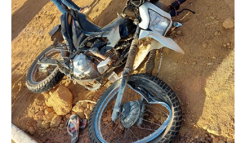 Motociclista tem fraturas expostas após acidente com carreta em Guarantã do Norte