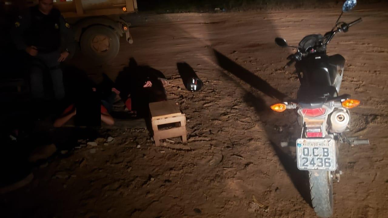 GUARANTÃ DO NORTEHomem e mulher são presos negociando motocicleta furtada em Guarantã do Norte