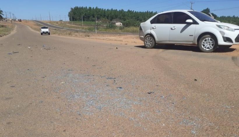 Acidente é registrado nesta manhã na paralela da BR 163 em Matupá